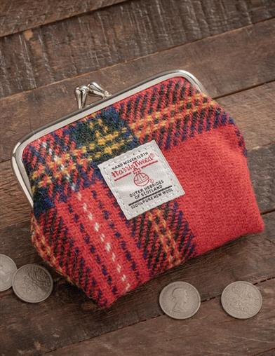 Royal Stewart Harris Tweed Clasp Purse