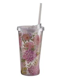 Hydrangea And Rose Travel Cup