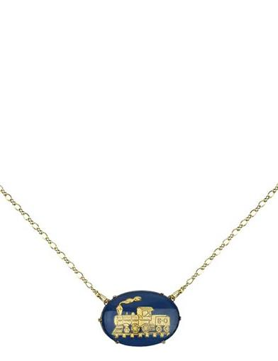 Blue Locomotive Vault Necklace