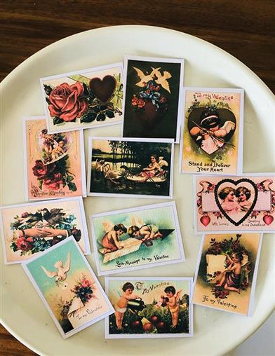 Vintage Valentines Decoration Wafers
