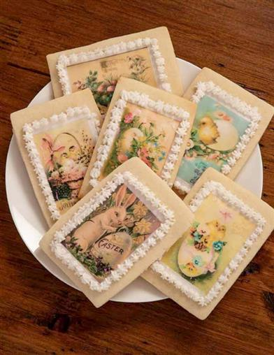 Victorian Eastertide Cookie Decoration Wafers