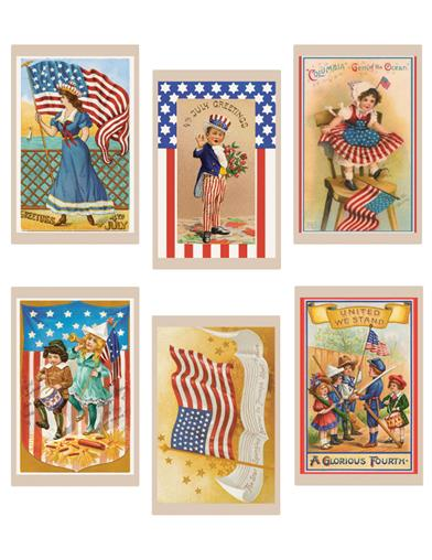 Vintage 4Th Of July Cookie Decoration Wafers