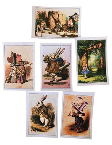 Alice In Wonderland Decoration Wafers