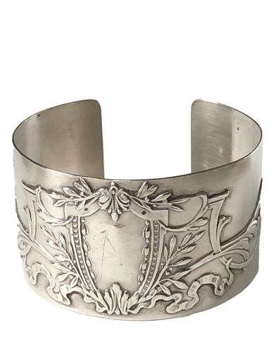 French Sterling Silver Cuff Bracelet
