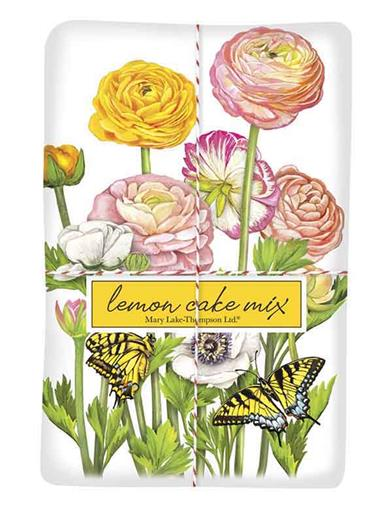 Ranunculus Lemon Cake Mix & Tea Towel