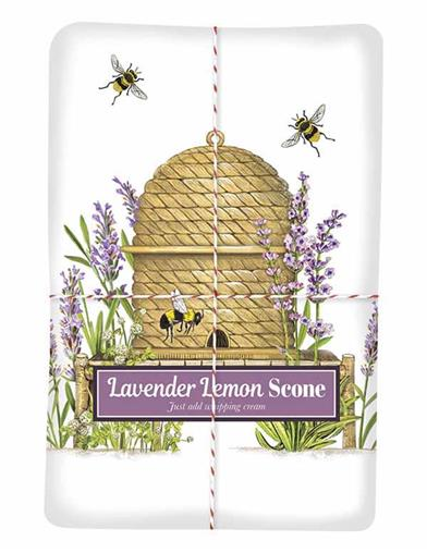 Lavender Beehive Lemon Scone Mix & Tea Towel
