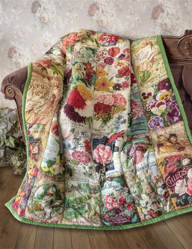 Heirloom Blooms Seed Packet Quilt