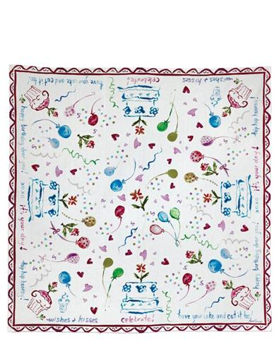 April Cornell Happy Birthday Tablecloth