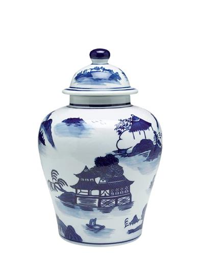 Blue Willow Ginger Jar Medium