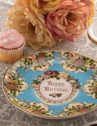 Happy Birthday Cake Plate