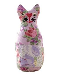April Cornell Tea Garden Patchwork Cat Pin Cushion