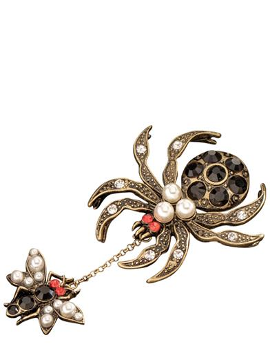 Spider And The Fly Brooch