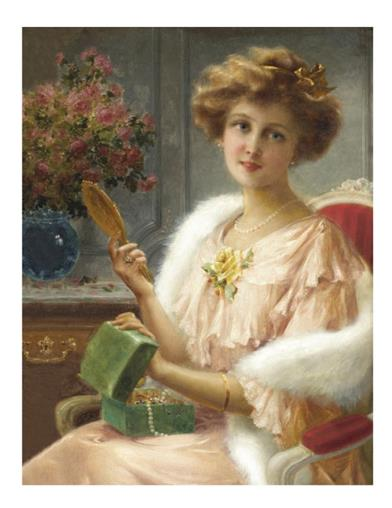 A Young Lady With A Mirror