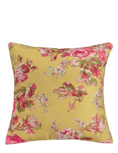 April Cornell Yellow Cottage Rose Cushion