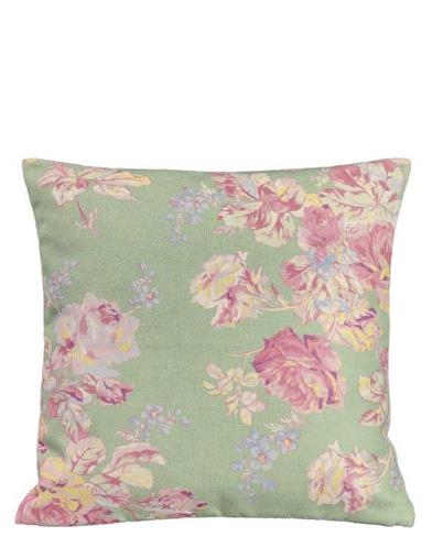 April Cornell Sage Cottage Rose Cushion