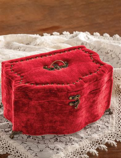 Couture Exquise Footed Velvet Sewing Box
