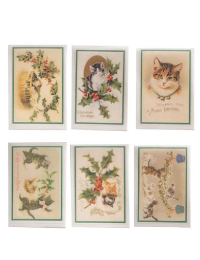 Christmas Cats Edible Wafer Paper (Set Of 12)
