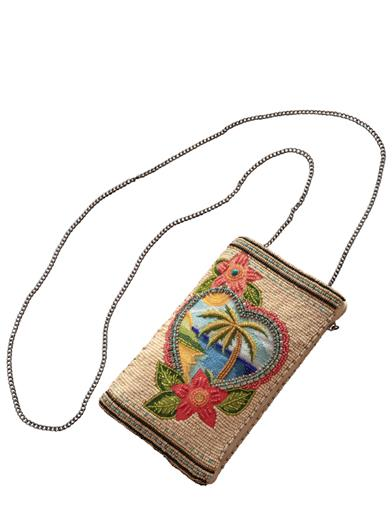 Mary Frances Under The Palm Tree Cell Phone Purse