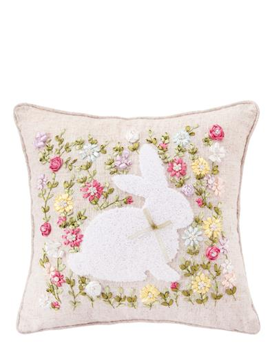 Cottontail's Springtide Meadow Pillow