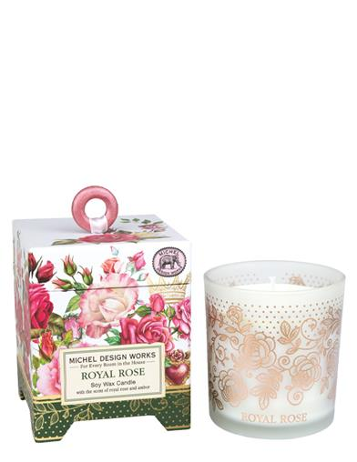 Michel Design Royal Rose Soy Wax Candle