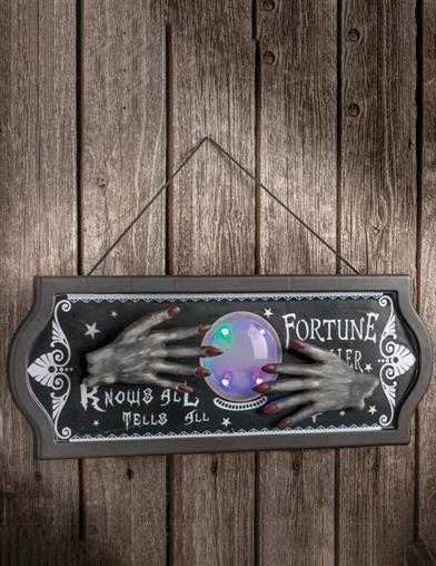 Animated Fortune Teller Witch Sign