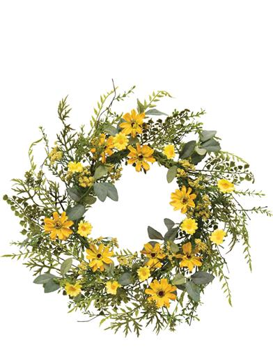 Sunshine Daisy Wreath
