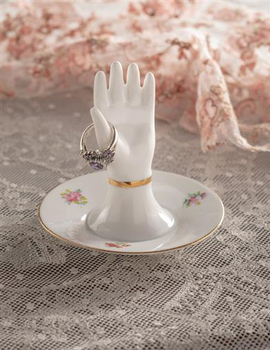 A Helping Hand Porcelain Ring Holder