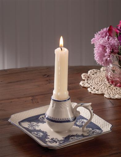 French Blue Toile Chamberstick