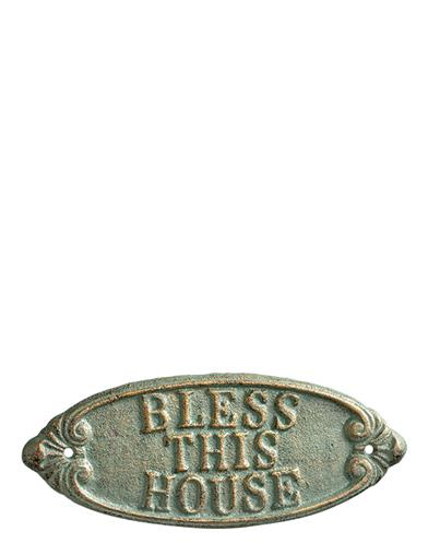 Bless This House Cast-iron Sign