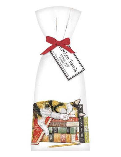 The Literary Cat Hand Towels (Set Of 2)