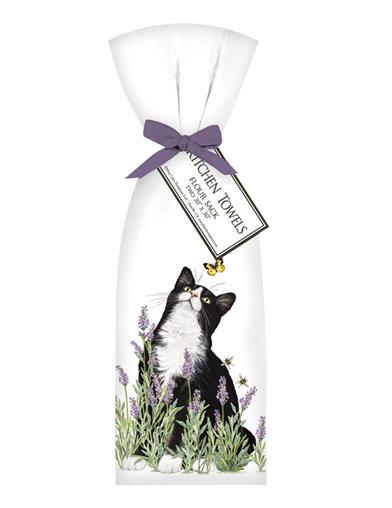 Lavender Kitten Kitchen Towels