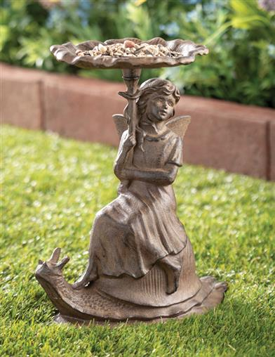 Snail's Pace Cast Iron Bird Feeder