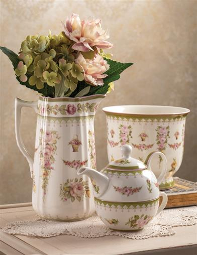 Recherche Rose Floral Tea-for-one