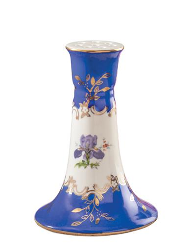 True Blue Floral Hatpin Holder