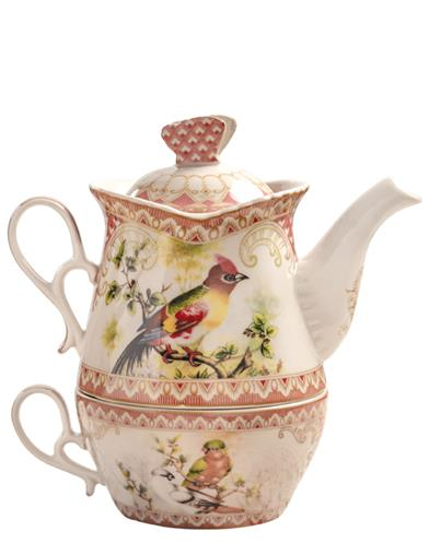 Birds Of A Feather Transferware Tea-for-one