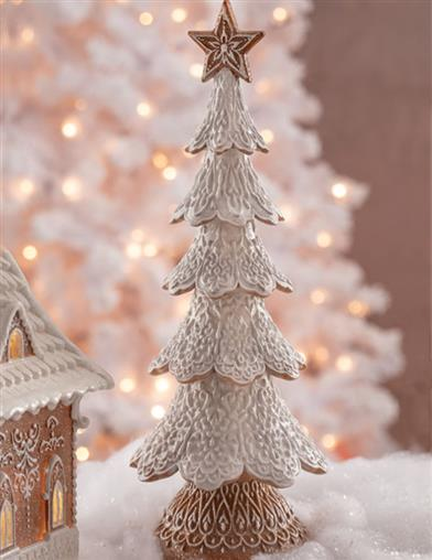 Gingerbread Forest Frosted Tree