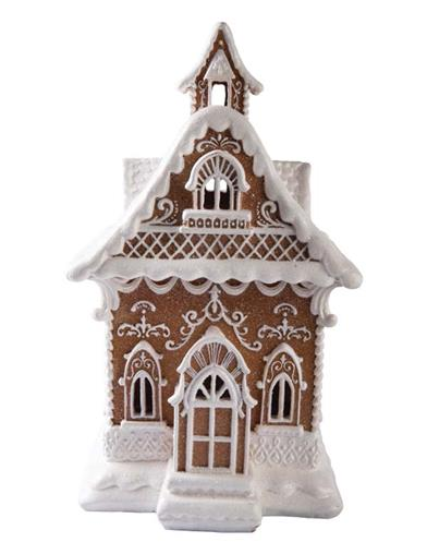 Iced Gingerbread Christmas Cottage