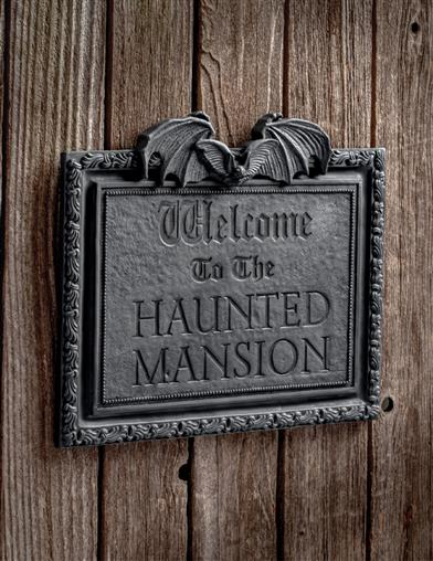Welcome To The Haunted Mansion Wall Plaque