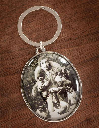 The Lady And Her Cats Keychain