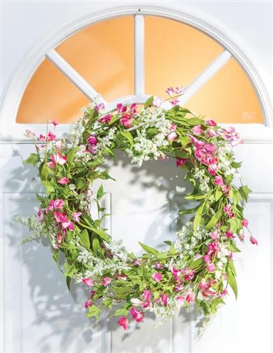 Summertime Garden Floral Wreath