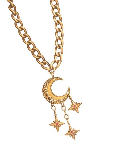 Crescent Moon & Stars Necklace