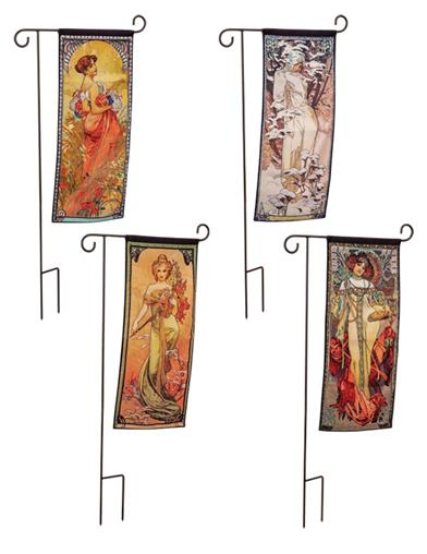 Four Seasons Garden Flags And Stake (Set Of 4)