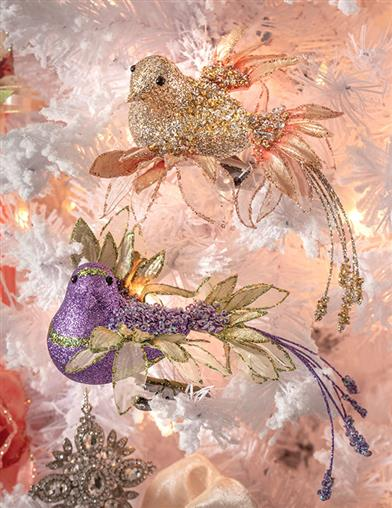 Regency Collection Jeweled Birds Orn (Set Of 2)