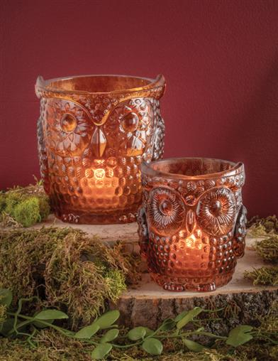 Tobias & Tully Owl Candle Holders (Set Of 2)