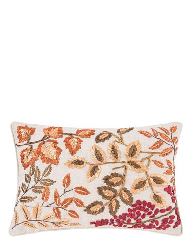 Autumn's Glory Embroidered Pillow