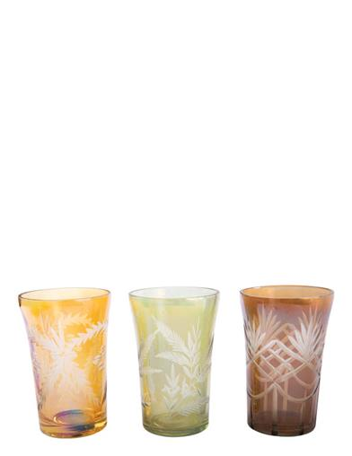 Tuscan Terroir Etched Glasses (Set Of 3)
