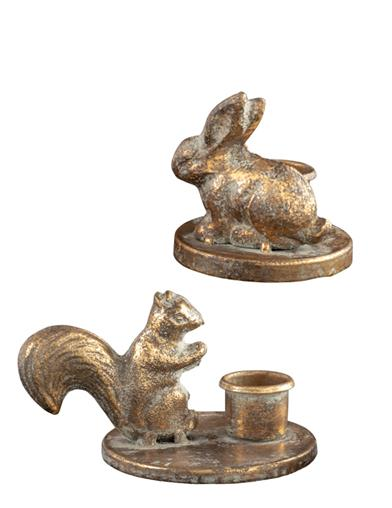Vintage Forest Friends Candle Holders