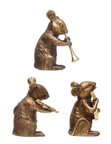 Three Sublime Mice Musicians (Set Of 3)