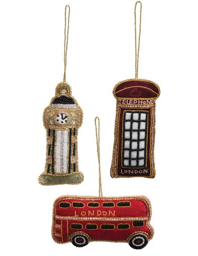 My Heart Is In England Ornaments (Set Of 3)
