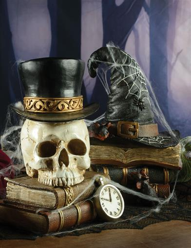 Haunted Icons Stacked Books Decor